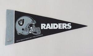 "NFL Oakland Raiders - Mini 9"" Football Pennant Rico Tag Express"