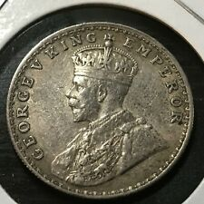 1916 BRITISH INDIA SILVER ONE RUPEE HIGH GRADE COIN