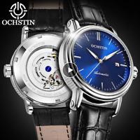 Orologio Classico da Uomo Automatico da Polso Elegante in Acciaio Inox Blu