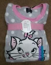 Ladies Primark ARISTOCAT MARIE Fleece Fluffy Nightwear Pyjama Set UK Size L