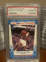 1989 Michael Jordan Fleer Sticker PSA 8 Dead Center. Undergraded. Looks Like 9.5
