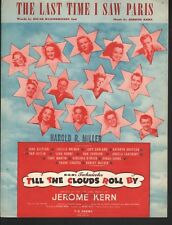 The Last Time I Saw Paris 1940 Till the Clouds Roll By Judy Garland Sheet Music