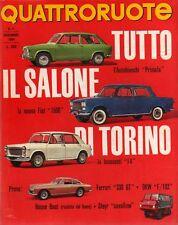 Quattroruote 107 novembre 1964 Prova Auto Union DKW F 102 - Ferrari 330 GT