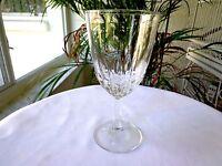 Set of 2 Luminarc Cris D'Arques Crystal Diamant Claret Wine Glasses c 1965-2008