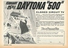 1968 small Print Ad of Daytona 500 Closed Circuit TV List Form TelePrompter Corp