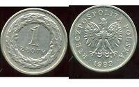 POLOGNE  1 zloty  1992