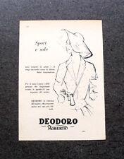 L610- Advertising Pubblicità -1957- DEODORO ROBERTS , SPORT E SOLE