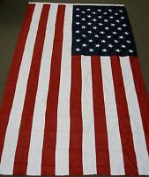 AMERICAN  FLAG 6X10  FEET POLYESTER EMBROIDERED STARS USA  6'X10'  F1055