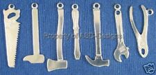 105pc S/S Plated Assorted Hand Tools Lot Charms 6183