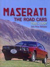 Maserati Biturbo Ghibli Shamal 222 228 Spyder BOOK