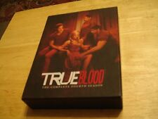 TRUE BLOOD COMPLETE FOURTH FOUR 4TH SEASON DVD + SLEEVE! NICE SHAPE
