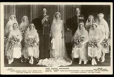 Royalty Wedding of Viscount Lascelles and Princess Mary RP PPC bridesmaids