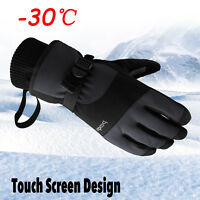 Men -30℃ Waterproof Winter Ski Snow Snowboarding Thermal Warm Thinsulate Gloves