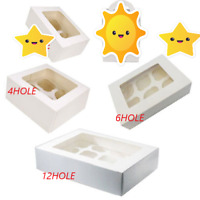 Cupcake Boxes Holds 1 2 4 6 12 Cup Cakes With Removable Trays Cake Box FREE PP