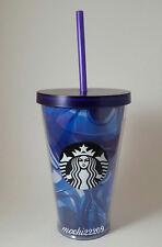 Starbucks 2016 WAVE BLUE PURPLE Acrylic Cold Cup Tumbler Mug 16oz