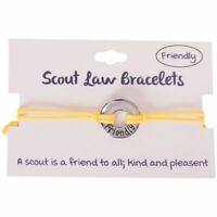 Boy Girl Yellow Scout Law Bracelet Friendly Scouting BSA Adjustable Adult Youth