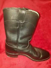 Justin Western Boots. Style; 3133 Black. Leather Size 9 (5)