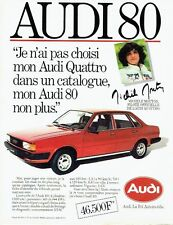 PUBLICITE ADVERTISING 0217  1982  Audi 80 Quattro Michème Mouton