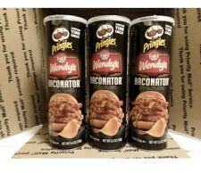 3 Cans 🥓Wendy's Baconator Pringles 🥓 - Limited Edition - HTF Exp 8/15/21