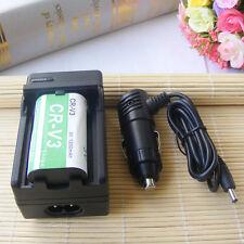 NEW CR-V3 CRV3 Rechargeable Battery + Charger for KODAK 1200mAH