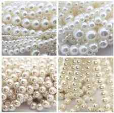 "50/100/500/1000pcs  ""ABC"" white pearl round charms spacer beads 6mm---30mm"