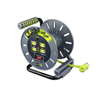 Masterplug Electrical Cord Storage Reel With 4 120V 10 Amp Outlets Home