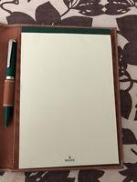 Genuine Leather Rolex Notebook and Pen in Rolex Box- New in Rolex Box