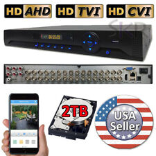 Sikker 32 Channel standalone DVR Recorder TVI CVI AHD Security Camera System 2TB