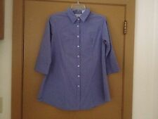 Women's Kathy Ireland Maternity button-down shirt size Small blue plaid