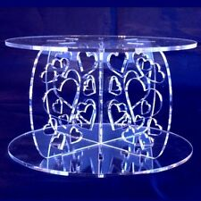 Heart Design Round Presentation Stand - Available in a Range of Colours