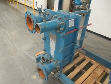 """2000YR ALFA LAVAL PLATE TYPE HEAT EXCHANGER M10-MFG 4"""" INLET 4"""" OUTLET 55 PLATES"""