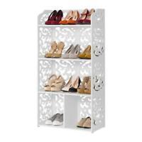 3/4/5/6 Tier Storage Holder Standing Shoe Rack Shelf Cabinet Space Saving