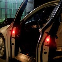 2x Universal Car Door LED Opened Warning Flash Light Kit Wireless Anti-collid