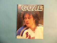 1981 Program Pittsburgh Penguins vs New York Rangers  Ron Duguay on cover