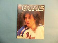 1981 Program Pittsburgh Penguins vs New York Rangers  Ron Duguay on cover