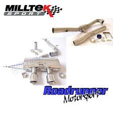 """MILLTEK GOLF R MK6 Turbo posteriore di scarico 3"""" Race & de-cat non RES non rinunciando polacco"""