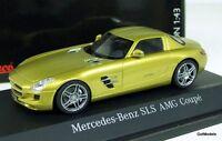 SCHUCO 1/43 - 450741400 MERCEDES BENZ SLS AMG COUPE C197 GOLD METALLIC MODEL CAR