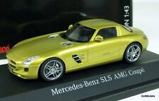 SCHUCO 1/43 - 450741400 MERCEDES BENZ SLS AMG COUPE C197 GOLD METALLIC MODEL CAR