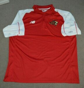 New Jersey Pride Team Issued New Balance Lacrosse 1/4 Zip Polo Shirt XL