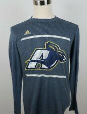 Akron Zips Roo Womens Aeroknit Clima Cool LS Crewneck Navy Blue T Shirt Adidas L
