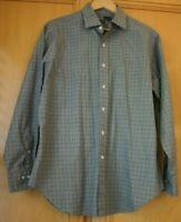 Polo Ralph Lauren Men's Long Sleeve Shirt Size 16 1/2  Sleeve Size 34/35 Gray