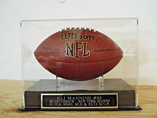 Eli Manning Football Display Case With A New York Giants Engraved Nameplate