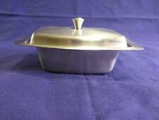 Vintage Stainless Steel Butter Dish w/Lid   made in USA
