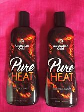 AUSTRALIAN GOLD PURE HEAT INDOOR TANNING LOTION~LOT OF 2