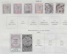 7 Sierra Leone Stamps from 19th Century Brown Scott Album 1896-1897