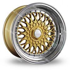"""Alloy Wheels 15"""" RS For Bmw e21 e30 Chevrolet aveo corsa lanos 4x100 Gold Pol"""