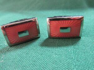 T.M. Lewin enamel cufflinks Pink