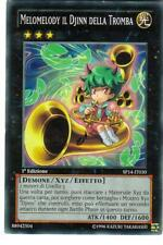 CARTA YU-GI-OH - MELOMELODY IL DJINN DELLA TROMBA - SP14-IT030 - RARA - IN IT