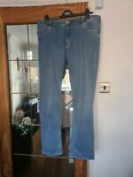 Ex M&S Per Una Embellished Jeans Straight Leg Trousers  Ladies Size 20 short