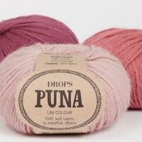 DROPS 100% SuperFine Peruvian Alpaca DK yarn PUNA, Oeko-Tex Untreated Fibre 50g